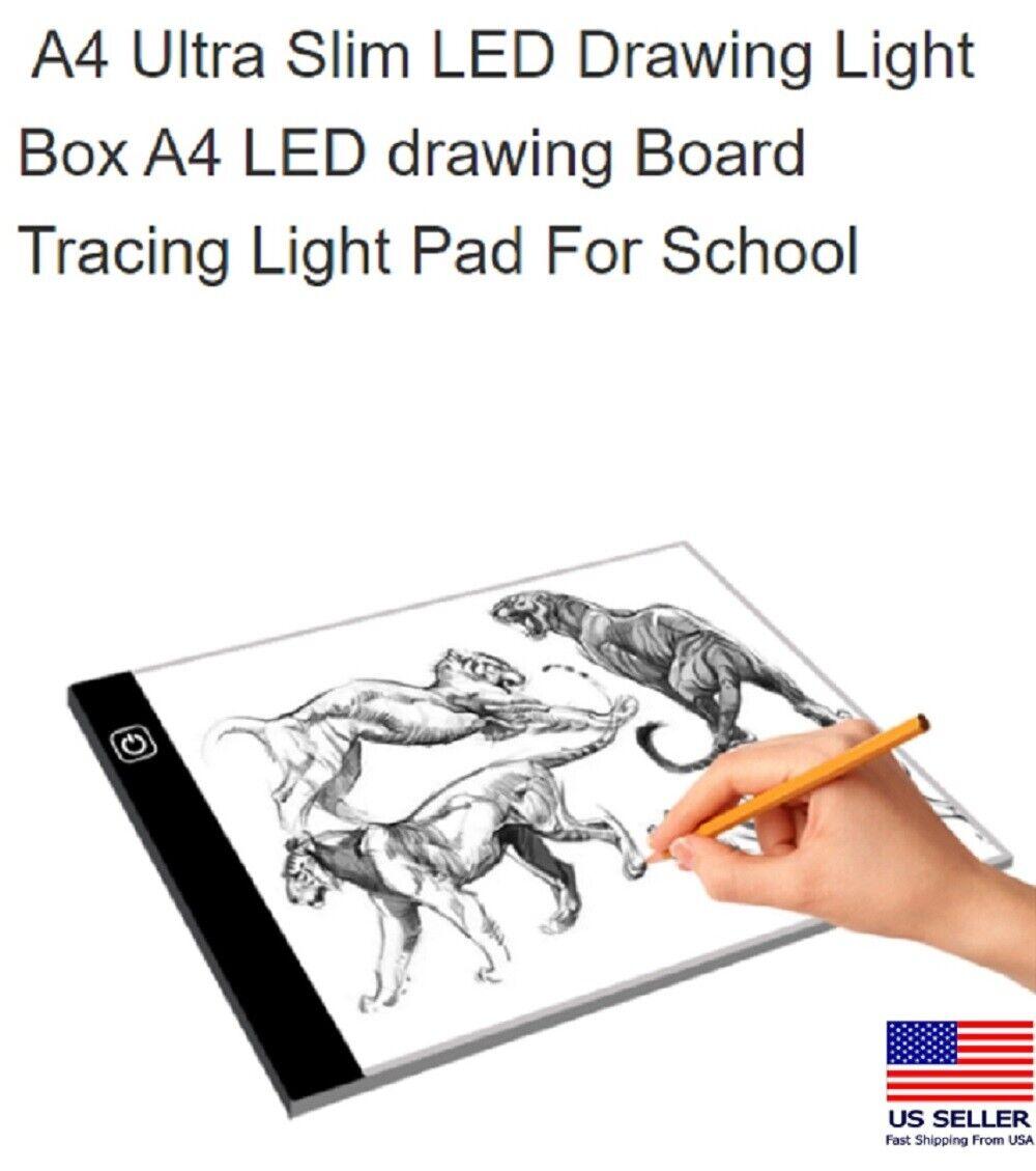 A4 USB LED Artist Tattoo Stencil Board Light Box Tracing Drawing Board Pad Table Art Supplies