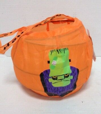 Halloween Trick Or Treat Collapsible Candy Bag Frankenstein Costume Orange