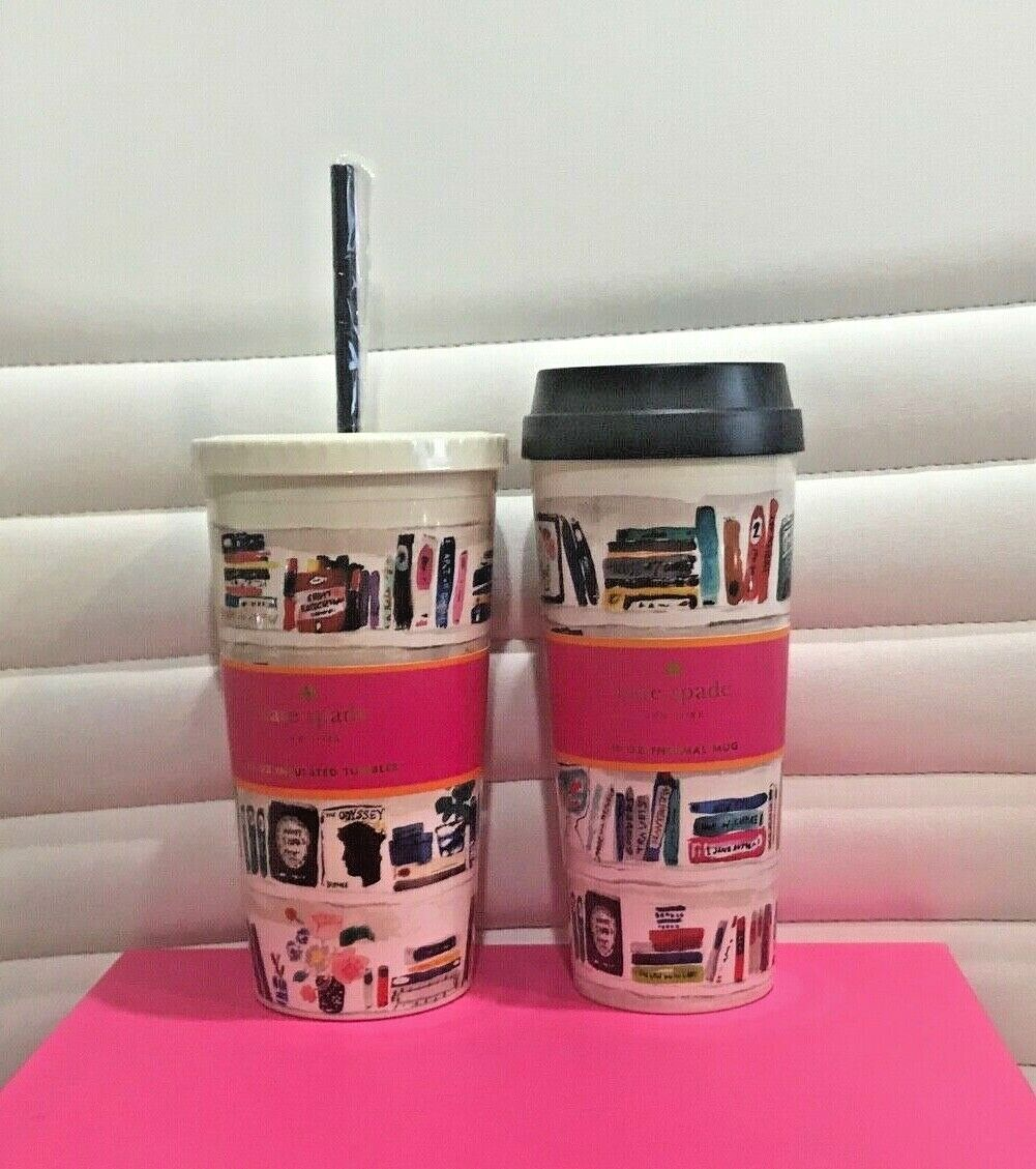 NEW Kate Spade LIKE A BOOK 20oz.Insulated Tumbler/16oz Therm