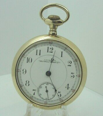 1892 Waltham Model 1883 15j 18s Grade No 35 Open Face Pocket Watch Monogram Back