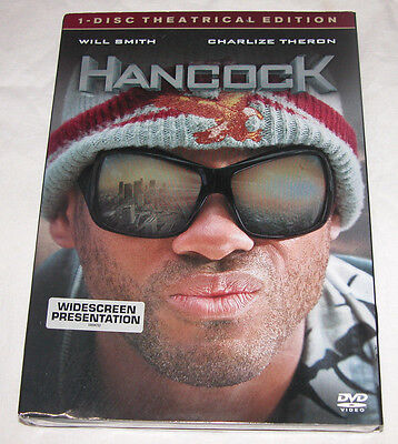 Hancock Dvd  2008  Rated Single Disc Version  Superhero Movie  Free Shipping Usa