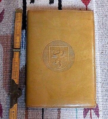 Vintage GIESSEN Germany Coat Of Arms Leather Passport/Travel/Wallet WOW!