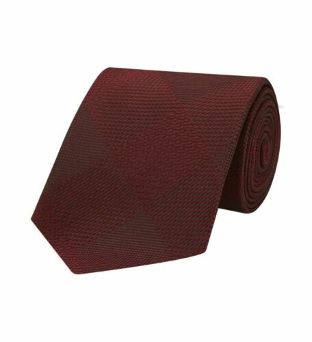 Turnbull & Asser Magadar Large Check Red Silk Tie 8cm