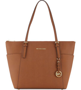 16042b5631ea Michael Kors Jet Set Top Zip Large Tote Saffiano Leather 30f4gttt9l Luggage