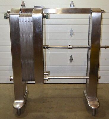 York Plate And Frame Heat Exchanger 36 Plate Stainless Steel 3 Inlet Outlet