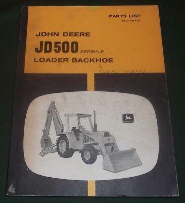 John Deere Jd500 500 Tractor Loader Backhoe Parts Manual Book Pc-1128