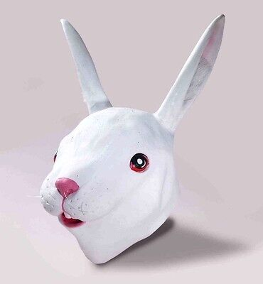 Masked Magician Halloween Costume (Deluxe RUBBER RABBIT MASK Bunny Full Head Latex Animal Costume Mascot)