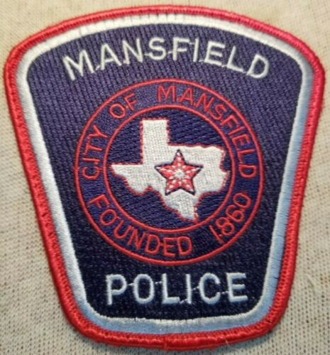 TX Mansfield Texas Police Patch