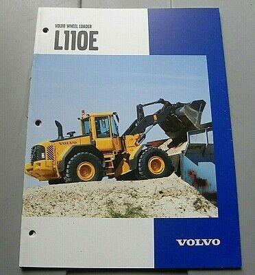 Factory Volvo Wheel Loader L110e Dealership 406 Brochure