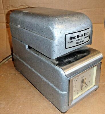 Vintage Art Deco Ish Amano 2846 Punch Clock Employee Time Card Clock
