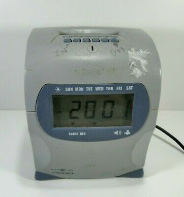 Pyramid 2600 Time Clock Punch Recorder No Keys