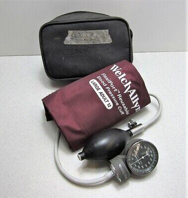 Welch Allyn Portable Handheld Sphygmomanometer Gauge W Large Adult 12 Cuff