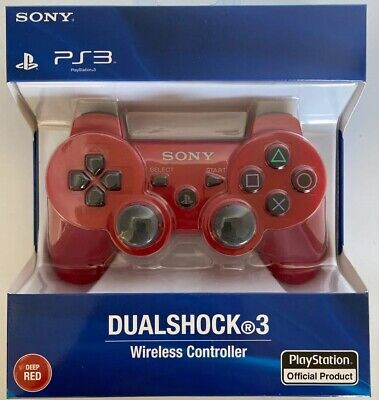 New Sealed Sony PlayStation Dualshock 3 Controller - Red