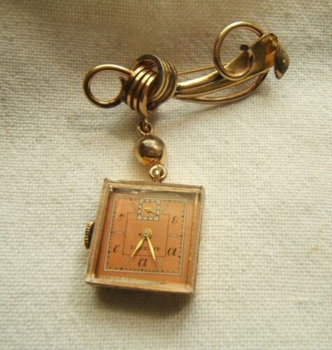 AMERICUS PENDANT WATCH 7 JEWEL WORKING VGC GOLD FILLED
