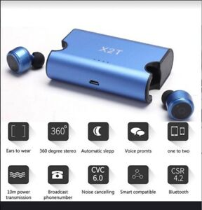 X2T Bluetooth Double Mini Stereo Earbuds