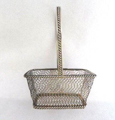 Silver Plated Metal Wire Basket ~ Sugar Sweetener Packets / Nuts / Candy Cup  (Metal Sugar Packet)