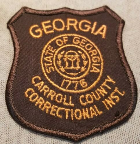 GA Carroll County Georgia Correctional Institution Patch (3.25In)