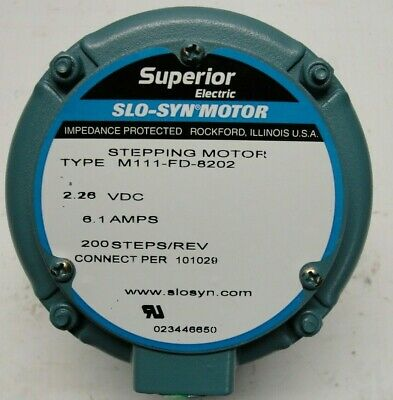 Slo-syn M111-fd-8202 Stepping Motor 2.3vdc 200 Stepsrev Superior Electric New