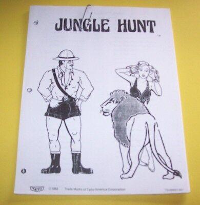Arcade, Jukeboxes & Pinball Manuals & Guides Jungle Hunt Taito Arcade Game Manual Various Styles