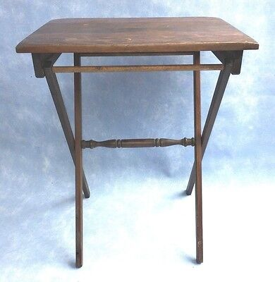 """Vintage Wood Folding Portable Coffee Table Outdoor Furniture Patio 24"""" tall"""