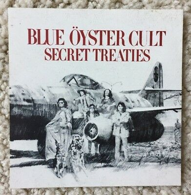 "BLUE OYSTER CULT-""Secret Treaties"" Columbia Rec Promo Sticker- 3""-Square-MINT!!!"