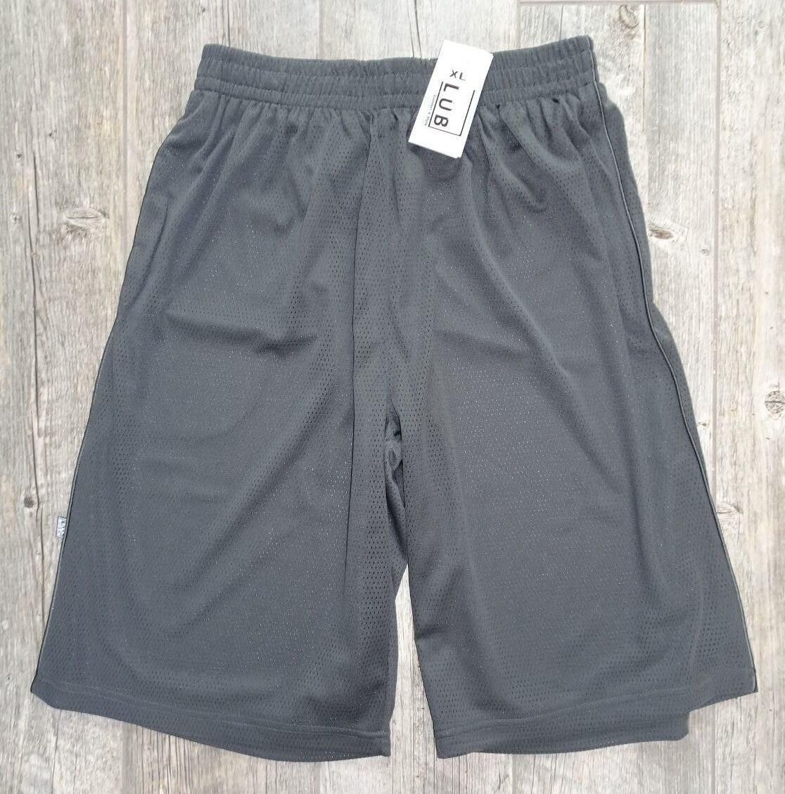 New Pro Club Mesh Shorts w/ Pocket - Charcoal Gray - L, XL,