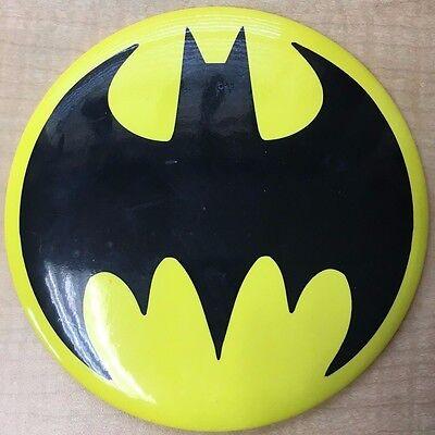 "Huge Batman symbol logo 6"" Inch Pinback Button with easel-back stand Bat-signal"