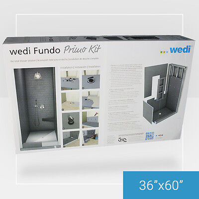 """Wedi Fundo Primo Shower Kit 36"""" X 60"""" - with free residential shipping!"""