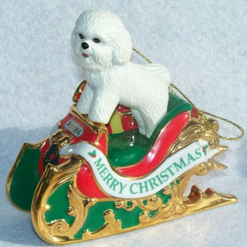 Danbury Mint Bichon Frise Dog 2006 Santa
