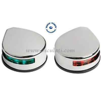 Stainless Steel LED Port & Starboard Navigation Lights (pair) – Boats to 20m Led-port