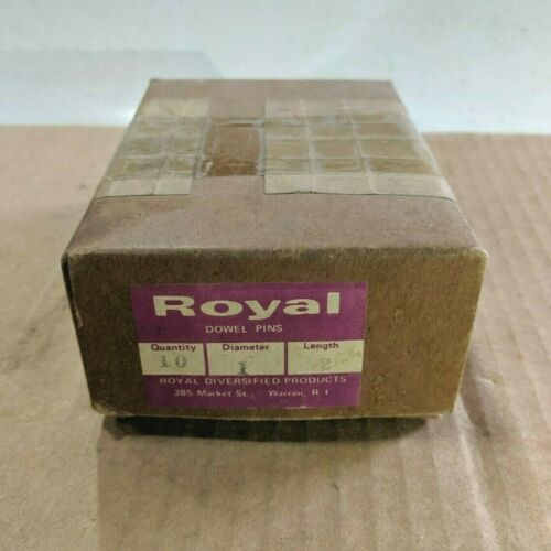 "Pack of 10 - 1"" x 2"" Royal Dowel Pins Alloy Steel"