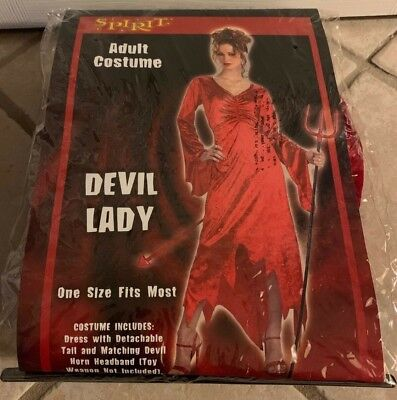 Lady Devil Costume Halloween (Spirit Halloween Devil Lady Adult Costume ~ One Size Fits)