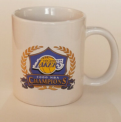 LA LAKERS NBA Champions 2000 Playoff Results 20 oz Ceramic Coffee Cup Mug Clean!