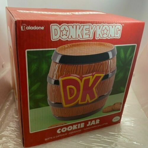 "Nintendo Donkey Kong Barrel Cookie Jar Ceramic 8"" Brand New Original Packaging"