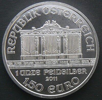 2011 AUSTRIA PHILHARMONIC 1 OZ SILVER ROUND COIN BU 1.5 EURO