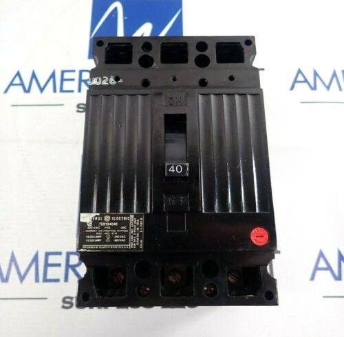GENERAL ELECTRIC TEDE134040 BLACK CIRCUIT BREAKER 40A 480V *TESTED*