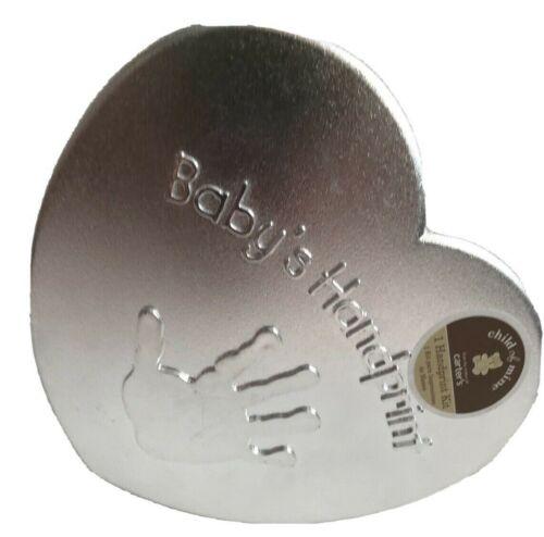 Baby Handprint Kit.  Heart Shaped.  Plaster.