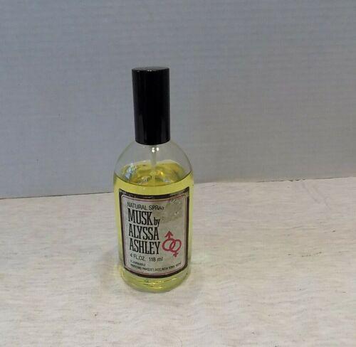 VINTAGE NATURAL SPRAY MUSK BY ALYSSA ASHLEY 4 OZ. 85% FULL