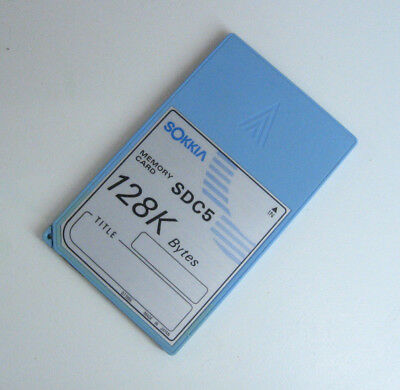 Sokkia Memory Card Sdc5 128 Kbyte For Surveying 1 Month Warranty