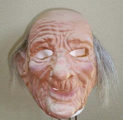 PA OLD MAN GRANDPA SENIOR CITIZEN WRINKLED SKIN LATEX MASK COSTUME DU112](Senior Citizens Halloween Costumes)