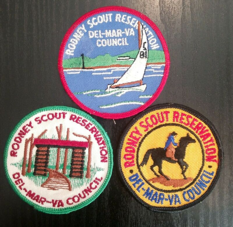 3 Del-Mar-Va Council Rodney Scout Reservation early patches