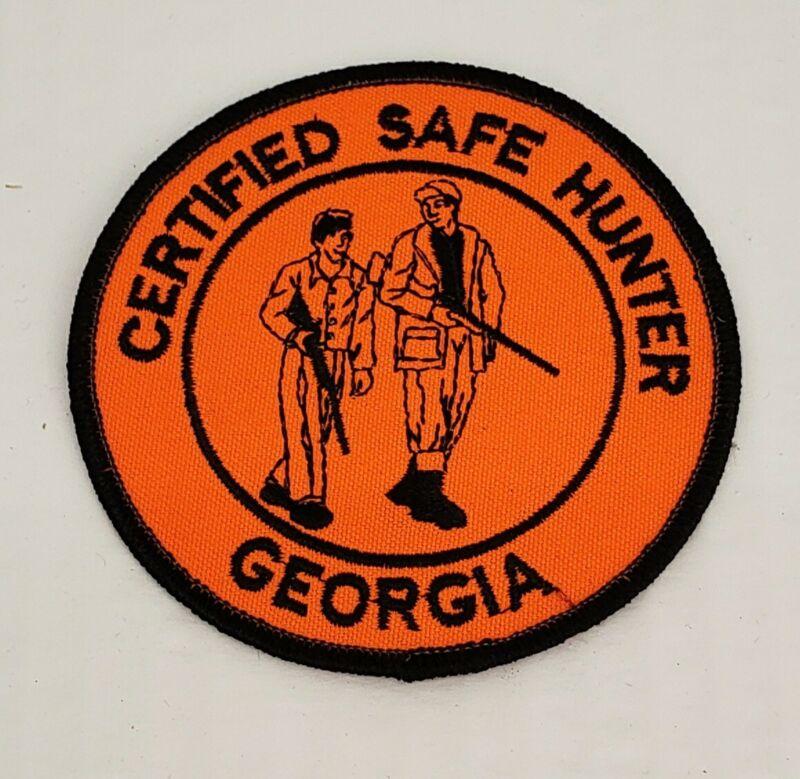 "Vintage Certified Safe Hunter Georgia Hunters Safety Patch 4"""