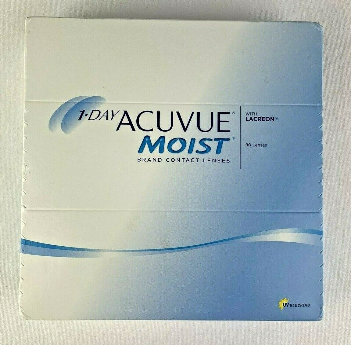 1-Day ACUVU Moist With Lacreon Box Of 90 Lenses D -7 BC 8.5 - $60.00