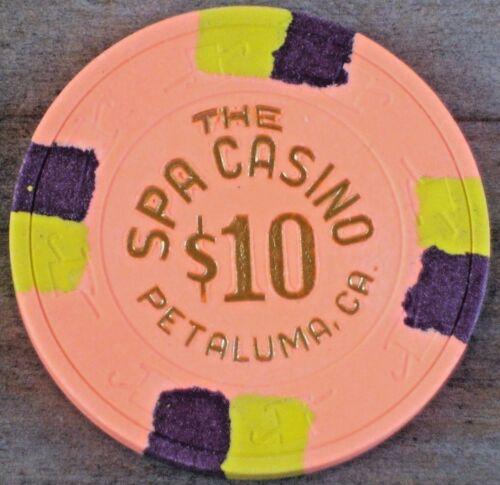 $10 VINTAGE GAMING CHIP FROM THE SPA HOTEL &  CASINO PETALUMA CA