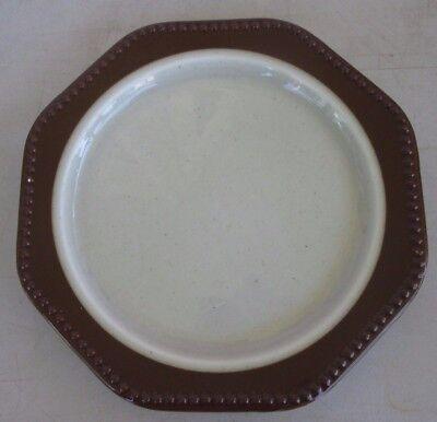 Heritage Designs Amber Mist Rim Salad Plate marked USA Mist Rim