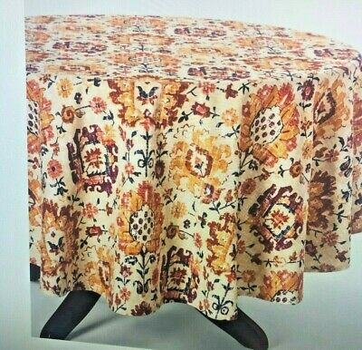 "Used, Table cloth Jacobean Tablecloth Size 70""- Threshold for sale  Shipping to India"