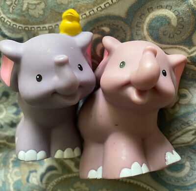 Fisher-Price Little People Animals Noah's Ark K0475 - Replacement Elephant Pair
