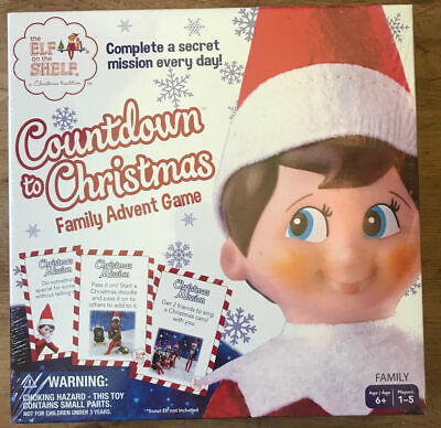 SEALED Elf on the Shelf Countdown to Christmas Family Advent Game Buffalo Games