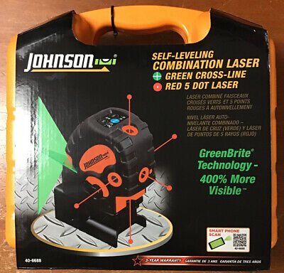 Johnson Level Tool Self-leveling Combination Red Dotgreen Cross Laser 40-6688
