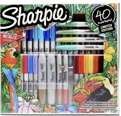 Sharpie Limited Edition Markers Art Pens Wmetallic Ultra Fine Point 40 Pk